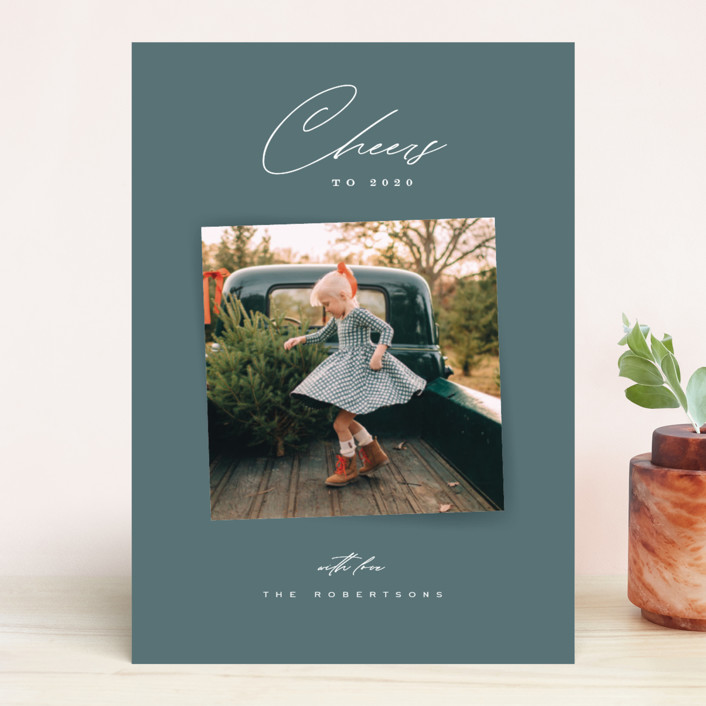 """""""Wonderment"""" - Christmas Photo Cards in Pine by Leah Bisch."""