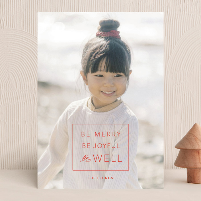 """""""be well box"""" - Christmas Photo Cards in Berry by Alaina Cherup."""
