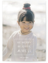 This is a white photo christmas card by Alaina Cherup called be well box with standard printing on smooth signature in standard.