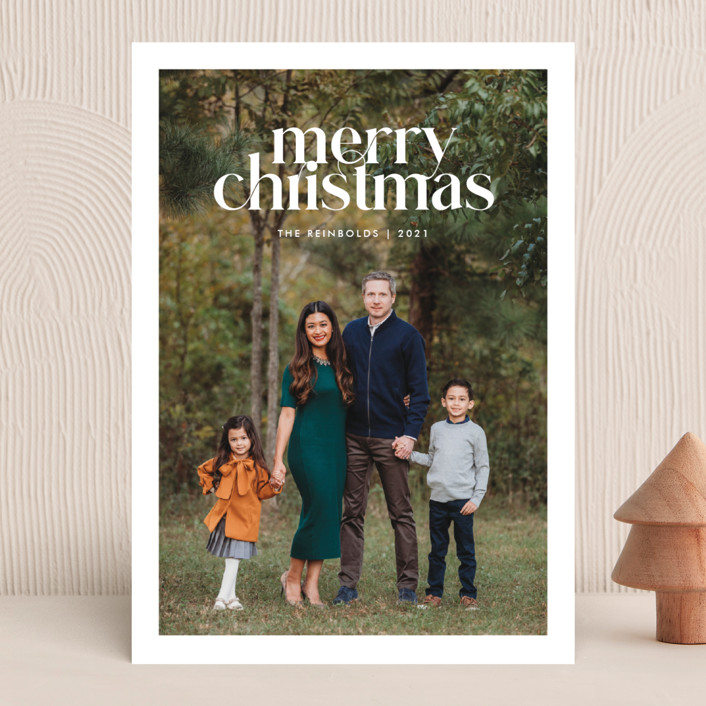 """""""Striking Type"""" - Christmas Photo Cards in Snowflake by Sandra Picco Design."""
