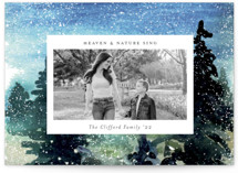 This is a white photo christmas card by Sejal Banker called Nature Blessings with standard printing on recycled smooth signature in standard.