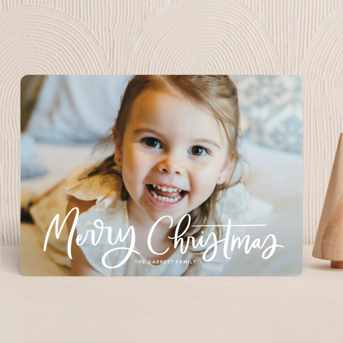 """Modern Merry Greeting"" - Christmas Photo Cards in Apple by Kristen Smith."