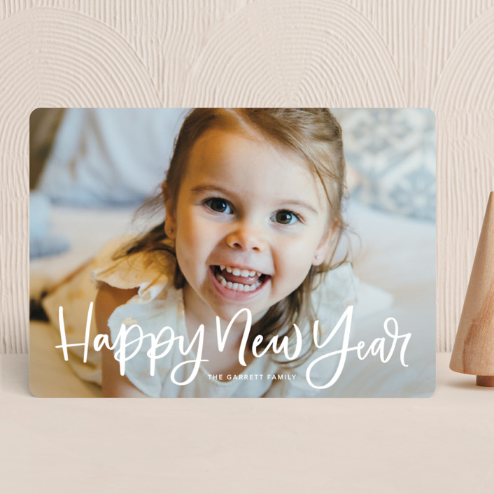 """Modern Merry Greeting"" - Christmas Photo Cards in Winter by Kristen Smith."