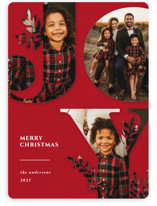 This is a red photo christmas card by Playground Prints called Nature Joy with standard printing on smooth signature in standard.