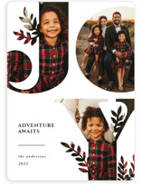 This is a white photo christmas card by Playground Prints called Nature Joy with standard printing on smooth signature in standard.