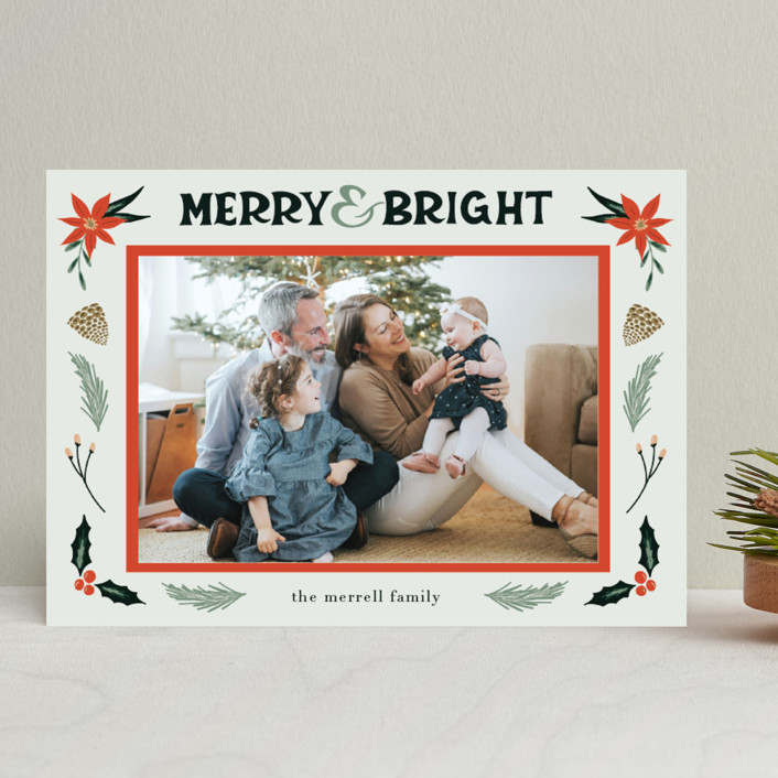 """""""Merry, Bright"""" - Vintage Christmas Photo Cards in Fog by Amanda Houston."""
