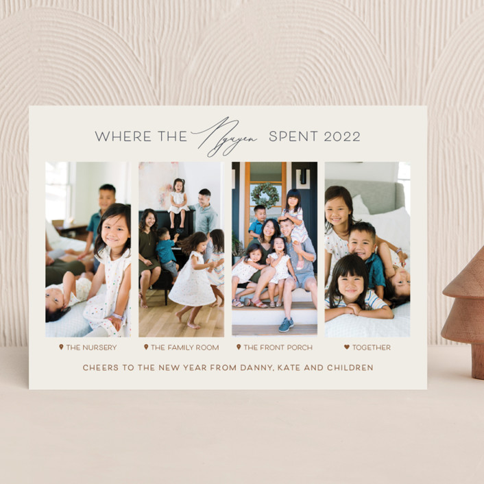 """""""Together Is Our Favorite Place"""" - Funny Christmas Photo Cards in Spice by Carolyn Kach."""