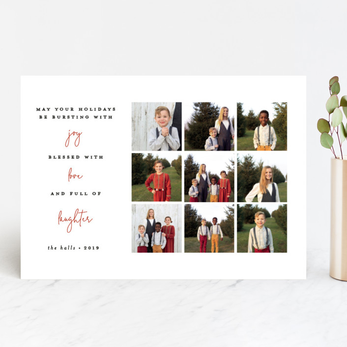 """""""Three things"""" - Christmas Photo Cards in Rouge by Bethan."""