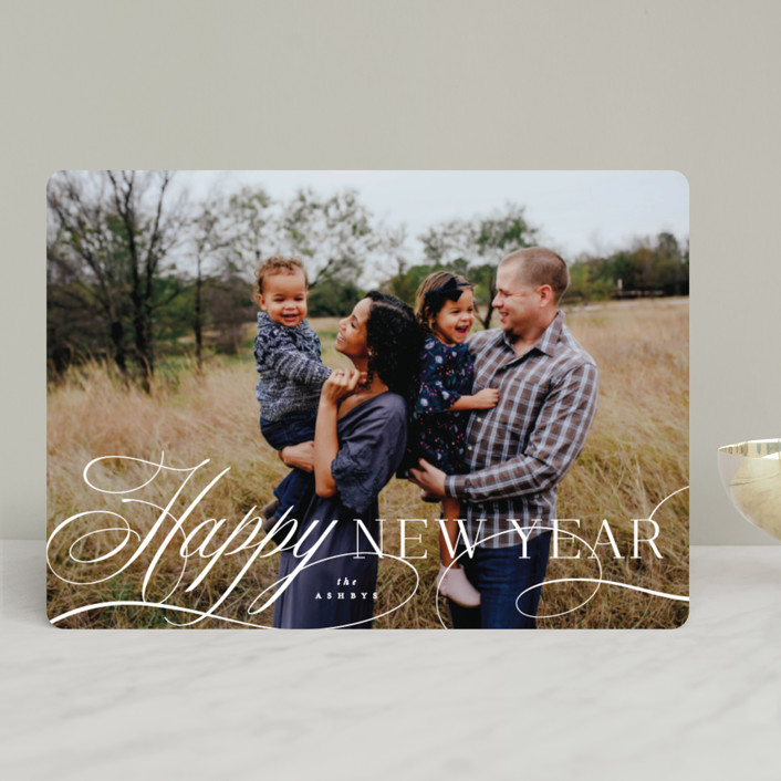 """Classical Christmas"" - Christmas Photo Cards in Snow by Hooray Creative."