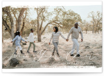 This is a white photo christmas card by Emily Betts called Brushed Peace with standard printing on smooth signature in standard.