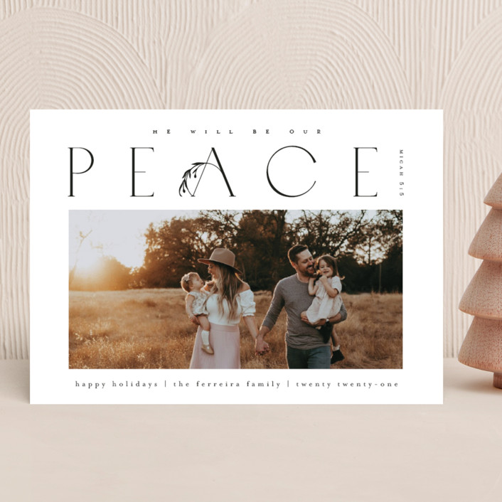 """""""He'll be our peace"""" - Christmas Photo Cards in Ink by Ana de Sousa."""