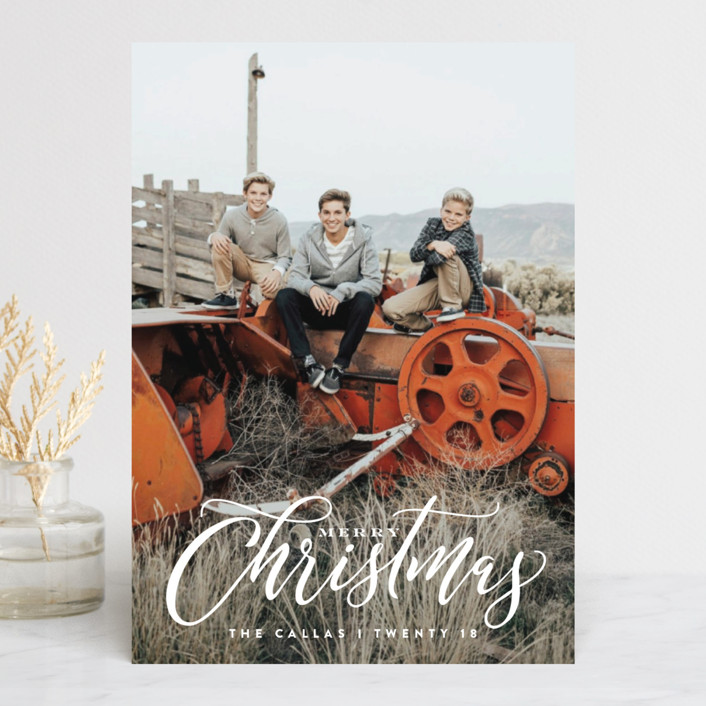 """""""Classic Xmas"""" - Christmas Photo Cards in Sand by Carrie ONeal."""