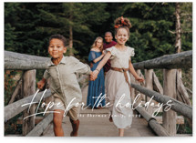This is a white photo christmas card by Lea Delaveris called Hope for the holidays with standard printing on signature in standard.