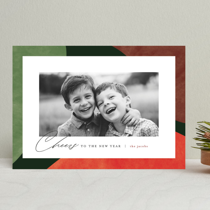 """""""Colorful Wonders"""" - Modern Christmas Photo Cards in Wreath by Pixel and Hank."""
