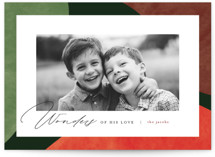 This is a green photo christmas card by Pixel and Hank called Colorful Wonders with standard printing on smooth signature in standard.