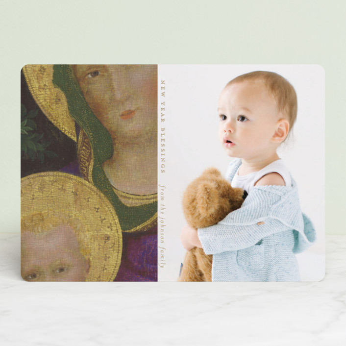 """""""Iconic Image"""" - Modern Christmas Photo Cards in Sand by Susan Brown."""