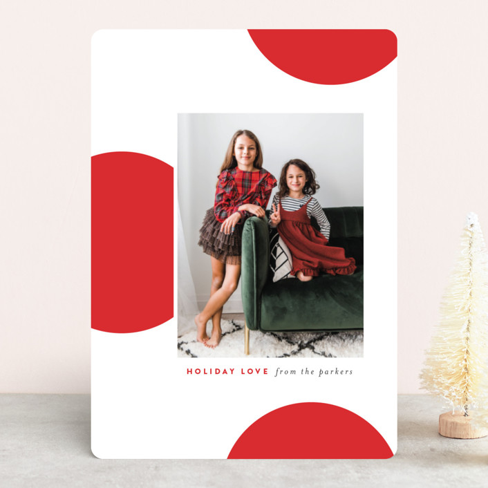 """""""holidots"""" - Modern Christmas Photo Cards in Ruby by Sara Hicks Malone."""