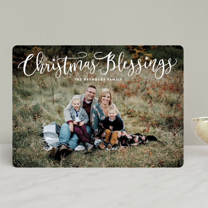 """""""Festive Christmas Blessings"""" - Christmas Photo Cards in Frost by Hooray Creative."""