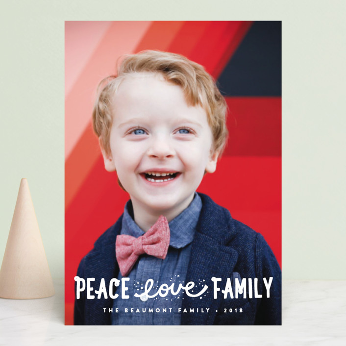 """Faith, Love, Family"" - Christmas Photo Cards in Snow by Erica Krystek."