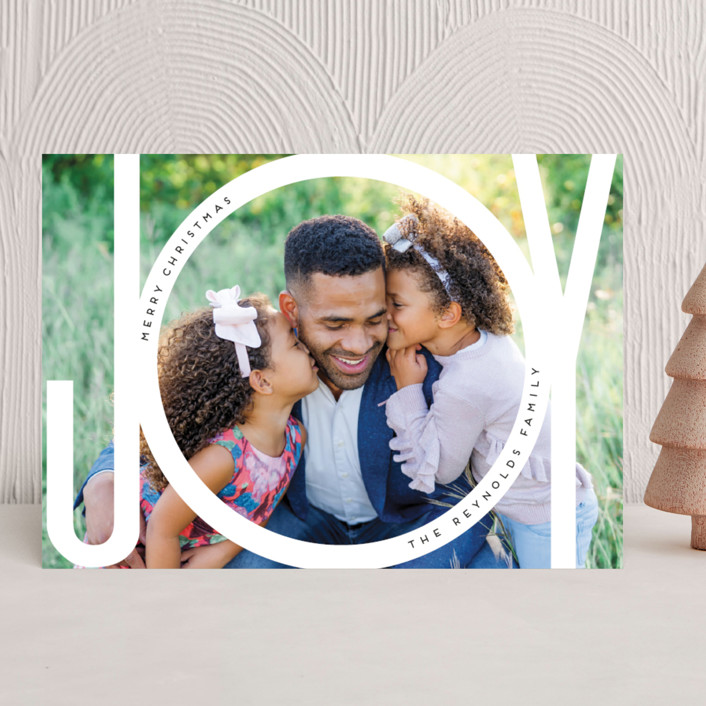 """""""Joy Bubble"""" - Christmas Photo Cards in Snow by Beth Murphy."""