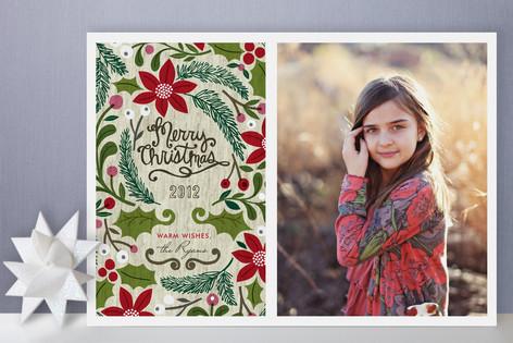 Sketchbook Foliage Christmas Photo Cards