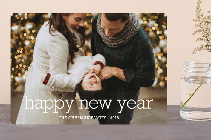 """""""Happy Everything"""" - Modern, Minimalist Christmas Photo Cards in Snow by annie clark."""