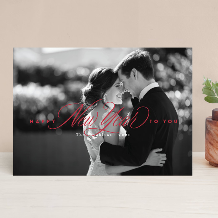 """The heart of Christmas"" - Christmas Photo Cards in Crimson by Jennifer Wick."