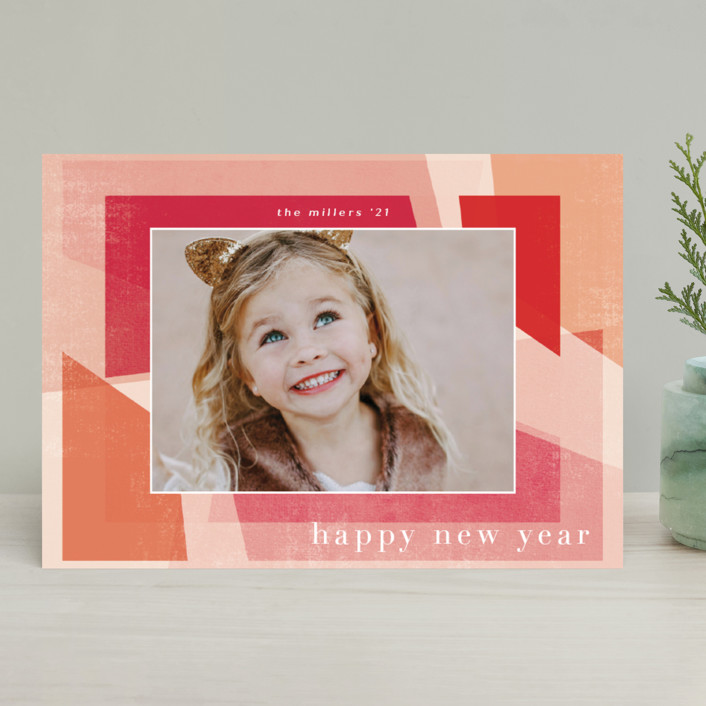 """""""Fractal"""" - Christmas Photo Cards in Mixed Berry by Grace Kreinbrink."""