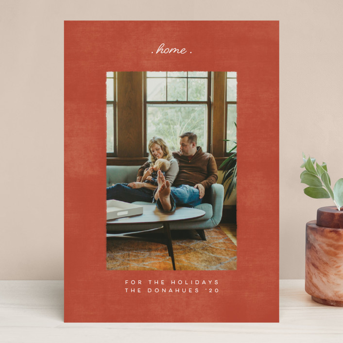 """staying at home"" - Christmas Photo Cards in Brick by Becky Nimoy."