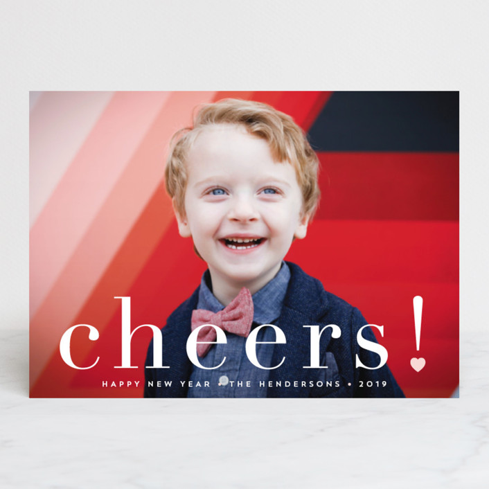 """joy from heart"" - Christmas Photo Cards in Petal by Qing Ji."