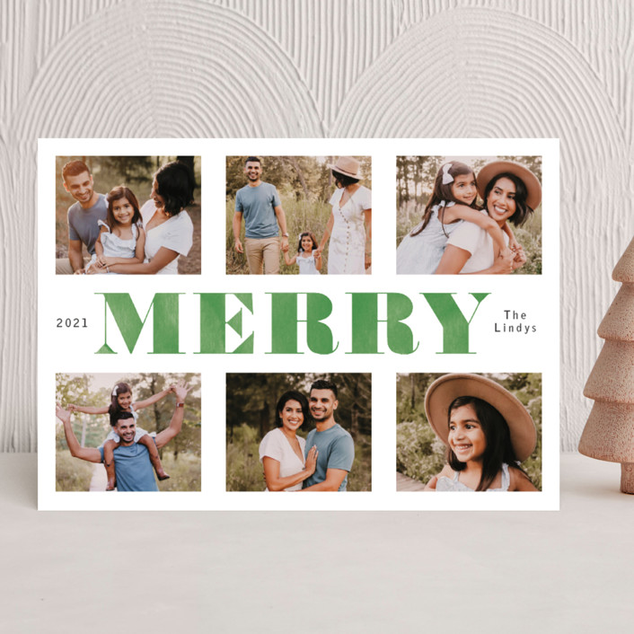 """""""Washed and Merry"""" - Christmas Photo Cards in Juniper by Betsy Siber."""
