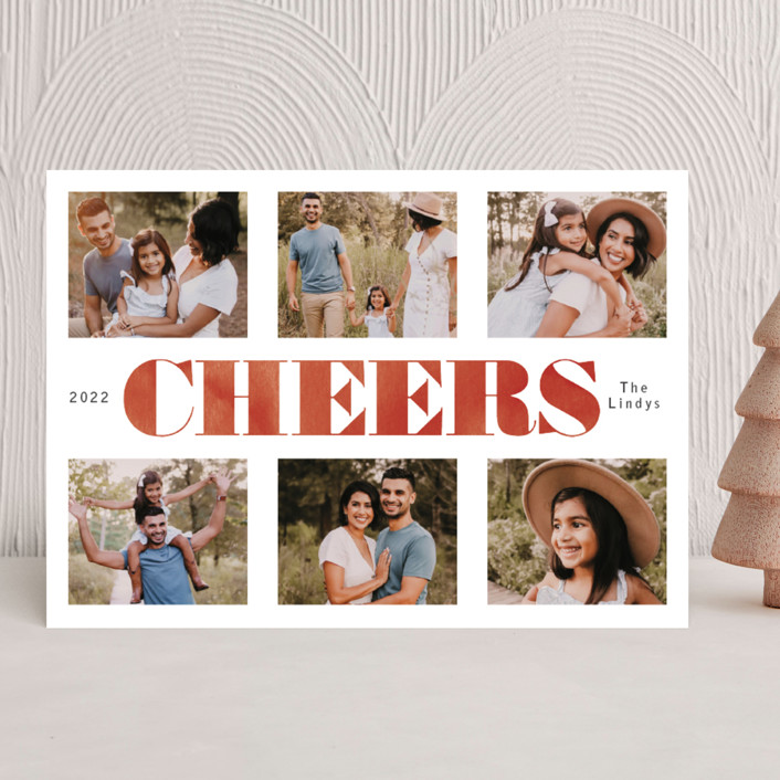 """Washed and Merry"" - Christmas Photo Cards in Peppermint by Betsy Siber."