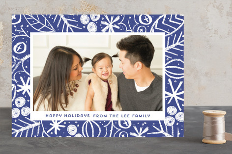 Bright Border Christmas Photo Cards