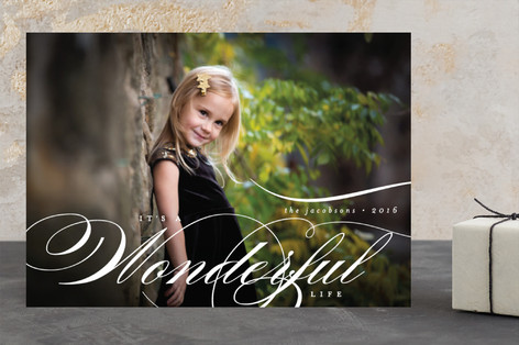 Scripted Holiday Christmas Photo Cards