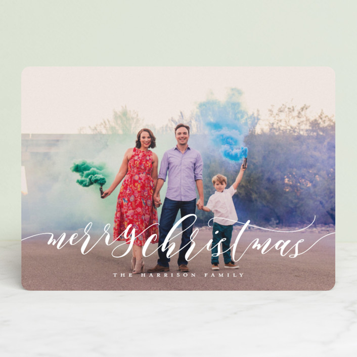 """Dreamy"" - Christmas Photo Cards in Snowflake by Jessica Williams."