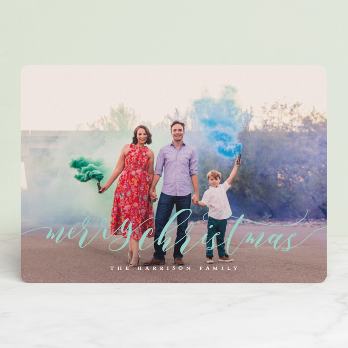 """""""Dreamy"""" - Christmas Photo Cards in Glacier by Jessica Williams."""