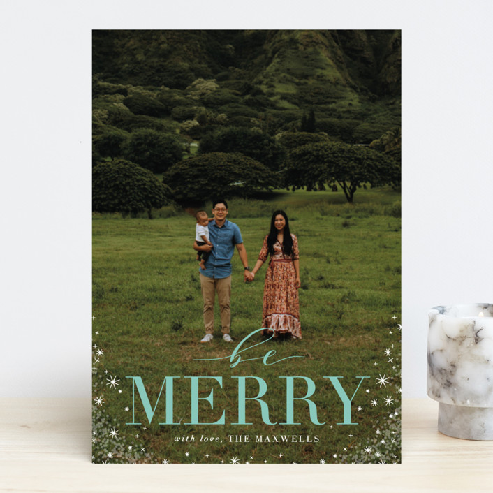 """Timeless"" - Christmas Photo Cards in Snow Flurry by Jennifer Postorino."