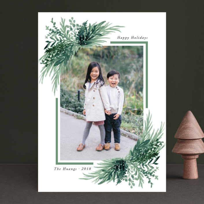 """""""Eve"""" - Christmas Photo Cards in Forest by Elly."""