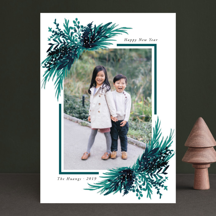 """Eve"" - Christmas Photo Cards in Forest by Elly."