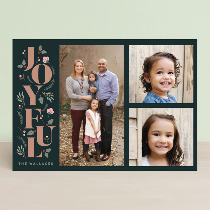 """Foliage Joyful"" - Christmas Photo Cards in Forest by curiouszhi design."