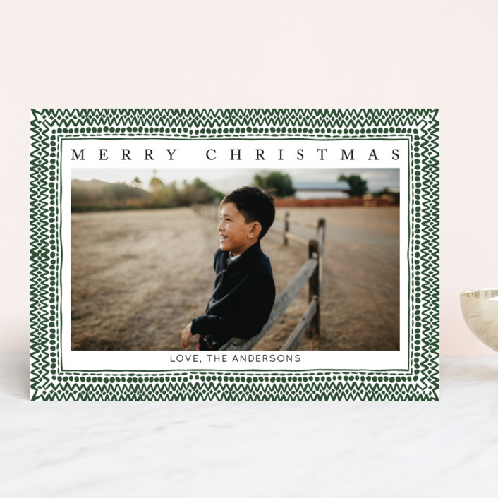 """""""It's the most wonderful time of the year II"""" - Vintage Christmas Photo Cards in Pine by Luz Alliati."""