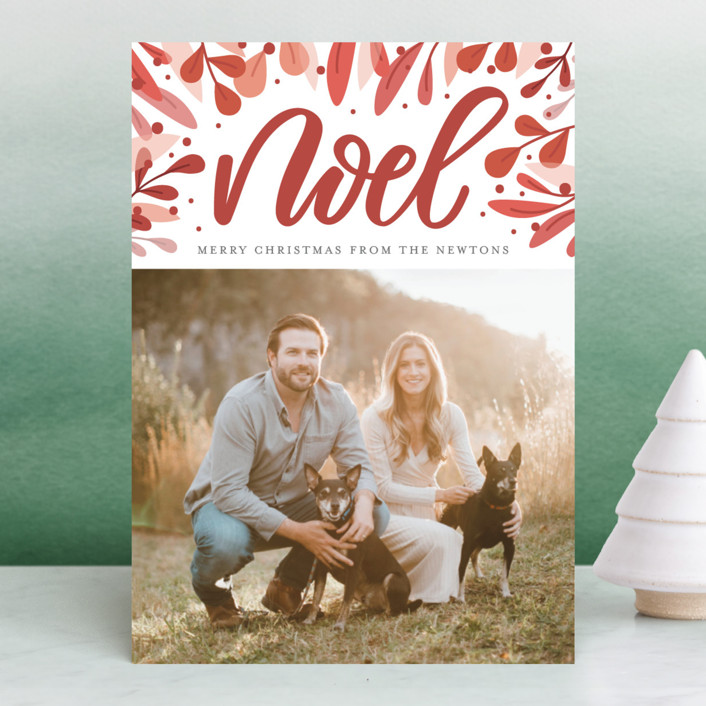 """Abundant Noel"" - Christmas Photo Cards in Pear by Cat Caudillo."