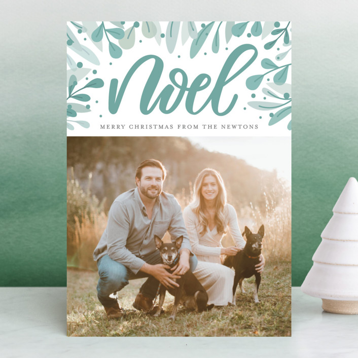 """Abundant Noel"" - Christmas Photo Cards in Pear by Cat Caudillo."