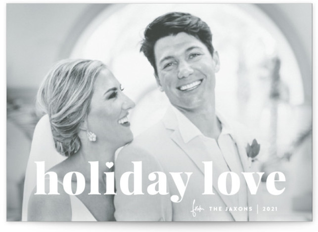vintage holiday love Christmas Photo Cards