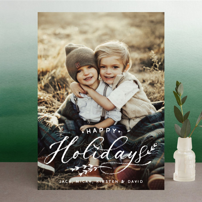"""""""All Chalked Up"""" - Christmas Photo Cards in Winter by Design Lotus."""