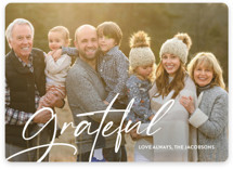 This is a white photo christmas card by Annie Walker called Grateful always with standard printing on smooth signature in standard.