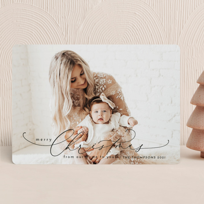 """""""From our home to yours"""" - Christmas Photo Cards in Midnight by Yaling Hou Suzuki."""