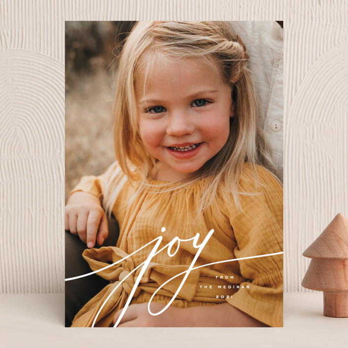 """""""Refined"""" - Christmas Photo Cards in Snow by April Astudillo."""