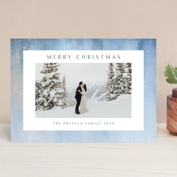 """""""Frosted"""" - Christmas Photo Cards in Sky by Nicole Walsh."""
