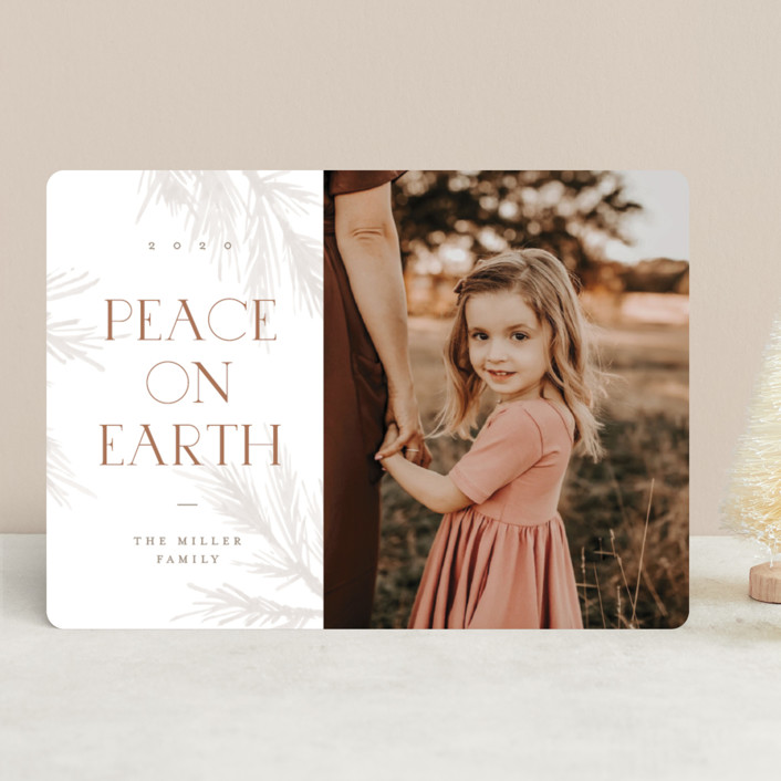 """""""All Peace"""" - Christmas Photo Cards in Burnt by Pixel and Hank."""